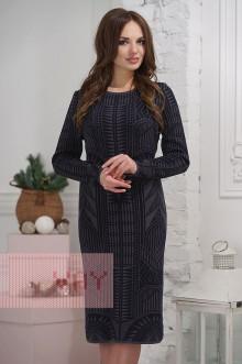 Платье женское 2276 Фемина (Темно-серый/темно-синий)