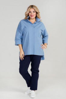 Рубашка 870 Luxury Plus (Голубой)